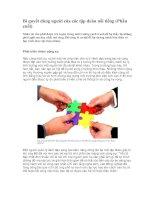 Bí quyết dùng người của các tập đoàn nổi tiếng (Phần cuối)