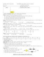 Đề kiểm tra chương 1 Vật lý 9