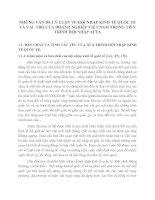 NHỮNG VẤN ĐỀ LÝ LUẬN VỀ HỘI NHẬP KINH TẾ QUỐC TẾ VÀ VAI  TRÒ CỦA DOANH NGHIỆP VIỆT NAM TRONG TIẾN TRÌNH HỘI NHẬP AFTA