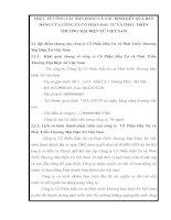 THỰC TẾ CÔNG TÁC BÁN HÀNG VÀ XÁC ĐỊNH KẾT QUẢ BÁN HÀNG CỦA CÔNG TY CỔ PHẦN ĐẦU TƯ VÀ PHÁT TRIỂN THƯƠNG MẠI ĐIỆN TỬ VIỆT NAM