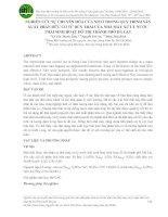 NGHIÊN CỨU SỰ CHUYỂN HÓA CỦA NITƠ TRONG QUY TRÌNH SẢN XUẤT PHÂN HỮU CƠ TỪ BÙN THẢI CỦA NHÀ MÁY XỬ LÝ NƯỚC THẢI SINH HOẠT ĐÔ THỊ THÀNH PHỐ ĐÀ LẠT