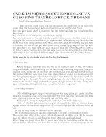 CÁC KHÁI NIỆM ĐẠO ĐỨC KINH DOANH VÀ CƠ SỞ HÌNH THÀNH ĐẠO ĐỨC KINH DOANH