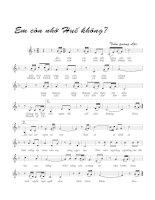 Bài hát em còn nhớ huế không - Trần Quang Lộc (lời bài hát có nốt)