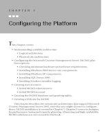 Configuring the Platform