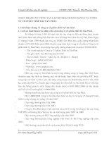 THỰC TRẠNG VỀ CÔNG TÁC LẬP KẾ HOẠCH BÁN HÀNG CỦA CÔNG TY CỔ PHẦN THIẾT BỊ TÂN PHÁT