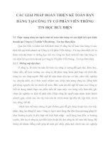 CÁC GIẢI PHÁP HOÀN THIỆN KẾ TOÁN BÁN HÀNG TẠI CÔNG TY CỔ PHẦN VIỄN THÔNG TIN HỌC BƯU ĐIỆN