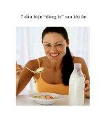 """7 dấu hiệu """"đáng lo"""" sau khi ăn"""