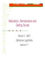 Modulation and coding course- lecture 11
