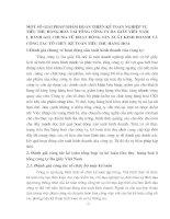 MỘT SỐ GIẢI PHÁP NHẰM HOÀN THIỆN KẾ TOÁN NGHIỆP VỤ TIÊU THỤ HÀNG HOÁ TẠI TỔNG CÔNG TY DA GIẦY VIỆT NAM