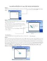 Tự tạo đồng hồ đếm và liên kết trong Powerpoint