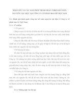 NHẬN XÉT VÀ CÁC GIẢI PHÁP NHẰM HOÀN THIỆN KẾ TOÁN NGUYÊN VẬT LIỆU TẠI CÔNG TY CỔ PHẦN BAO BÌ VIỆT NAM