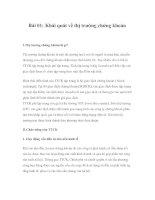 Kiến thức cơ bản về chứng khoán - Bài 1