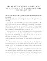 MỘT SỐ GIẢI PHÁP NÂNG CAO HIỆU QUẢ HOẠT ĐỘNG CỦA CHƯƠNG TRÌNH 134 TRONG GIAI ĐOẠN TIẾP THEO (2007 -2008)