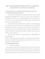 THỰC TRẠNG HOẠT ĐỘNG MÔI GIỚI TẠI CÔNG TY TNHH CHỨNG KHOÁN NHNO VÀ PTNT VIỆT NAM (AGRISECO)