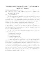 Thực trạng quản lý nợ xấu tại Sở giao dịch I Ngân hàng Đầu tư và Phát triển Việt Nam