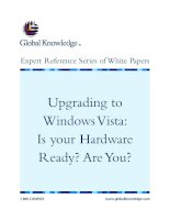 Upgrading to Windows Vista: Is your Hardware Ready? Are You?