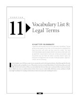 Vocabulary list 8 - Legal Terms