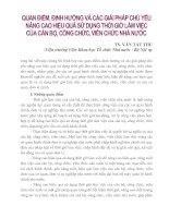 QUAN ĐIỂM, ĐỊNH HƯỚNG VÀ CÁC GIẢI PHÁP CỦA CÁN BỘ, CÔNG CHỨC, VIÊN CHỨC NHÀ NƯỚC