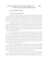 CƠ SỞ VÀ PHƯƠNG PHÁP LUẬN NGHIÊN CỨU  ẢNH HƯỞNG CỦA GIÁO DỤC ĐẾN MỨC SINH