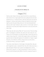 LUYỆN ĐỌC TIẾNG ANH QUA TÁC PHẨM VĂN HỌC-JANE EYRE CHARLOTTE BRONTE Chapter 27-2