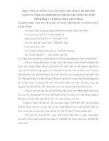 THỰC TRẠNG CÔNG TÁC TỔ CHỨC KẾ TOÁN CHI PHÍ SẢN XUẤT VÀ TÍNH GIÁ THÀNH SẢN PHẨM TẠI CÔNG TY SUPE PHỐT PHÁT VÀ HOÁ CHẤT LÂM THAO