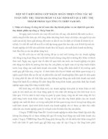 MỘT SỐ Ý KIẾN ĐÓNG GÓP NHẰM  HOÀN THIỆN CÔNG TÁC KẾ TOÁN TIÊU THỤ THÀNH PHẨM VÀ XÁC ĐỊNH KẾT QUẢ TIÊU THỤ THÀNH PHẨM TẠI CÔNG TY THÉP NAM ĐÔ