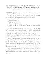 GIỚI THIỆU CHUNG VỀ CÔNG TY MUỐI THANH HOÁ VÀ MỘT SỐ ĐẶC ĐIỂM KINH TẾ - KỸ THUẬT ẢNH HƯỞNG ĐẾN CÔNG TÁC QUẢN TRỊ BÁN HÀNG CỦA CÔNG TY
