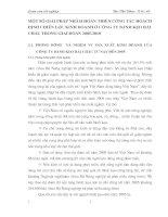 MỘT SỐ GIẢI PHÁP NHẰM HOÀN THIỆN CÔNG TÁC HOẠCH ĐỊNH CHIẾN LƯỢC KINH DOANH Ở CÔNG TY BÁNH KẸO HẢI CHÂU TRONG GIAI ĐOẠN 2005-2010