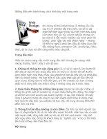 Những điều nên tránh trong cách trình bày một trang web