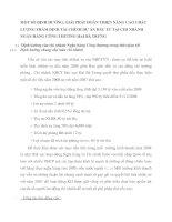 MỘT SỐ ĐỊNH HƯỚNG, GIẢI PHÁP HOÀN THIỆN NÂNG CAO CHẤT LƯỢNG THẨM ĐỊNH TÀI CHÍNH DỰ ÁN ĐẦU TƯ TẠI CHI NHÁNH NGÂN HÀNG CÔNG THƯƠNG HAI BÀ TRƯNG