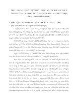 THỰC TRẠNG VỀ KẾ TOÁN TIỀN LƯƠNG VÀ CÁC KHOẢN TRÍCH THEO LƯƠNG TẠI CÔNG TY CỔ PHẦN THƯƠNG MẠI XUẤT NHẬP KHẨU NAM THĂNG LONG