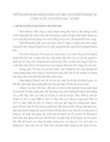 NHỮNG GIẢI PHÁP NHẰM NÂNG CAO HIỆU QUẢ KINH DOANH TẠI CÔNG TY DU LICH VIỆT NAM   HÀ NỘI