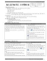 Bài 5. Các thao tác cơ bản trên bảng