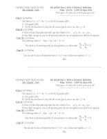 Đề và Đáp án Kiểm Tra 1 tiết ĐSNC 10