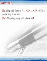 Bai 10. Cấu trúc lặp - Tiết 3. Lặp với số lần chưa biết trước-Câu lệnh While-do