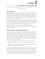 The What, Why and How of Sys Admin