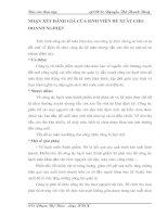 NHẬN XÉT ĐÁNH GIÁ CỦA SINH VIÊN ĐỀ XUẤT CHO DOANH NGHIỆP