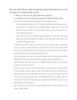 ĐỀ XUẤT MỘT SỐ GIẢI PHÁP MARKETING NHẰM ĐẨY MẠNH TIÊU THỤ TẠI CÔNG TY TM