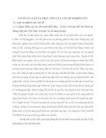 CƠ SỞ LÝ LUẬN VÀ THỰC TIỄN CỦA VẤN ĐỀ NGHIÊN CỨU