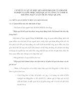 CƠ SỞ LÝ LUẬN VỀ HIỆU QỦA KINH DOANH CỦA DOANH NGHIỆP VÀ GIỚI THIỆU KHÁI QUÁT VỀ CÔNG TY TNHH IN THƯƠNG MẠI VÀ XÂY DỰNG NHẬT QUANG
