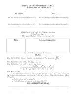 Bài kiểm tra giữa kỳ I_Toán 9_2010-2011
