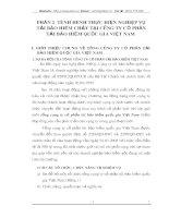 PHẦN 2  TÌNH HÌNH THỰC HIỆN NGHIỆP VỤ TÁI BẢO HIỂM CHÁY TẠI CÔNG TY CỔ PHẦN TÁI BẢO HIỂM QUỐC GIA VIỆT NAM
