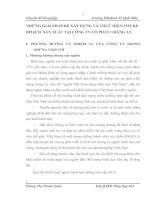 NHỮNG GIẢI PHÁP ĐỂ XÂY DỰNG VÀ THỰC HIỆN TỐT KẾ HOẠCH  SẢN XUẤT TẠI CÔNG TY CỔ PHẦN TRÀNG AN