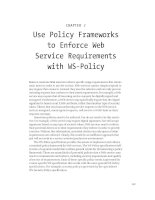 Use Policy Frameworks to Enforce Web Service Requirements with WS-Policy