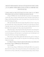 MỘT SỐ Ý KIẾN ĐÁNH GIÁ  ĐỀ XUẤT VỀ HẠCH TOÁN TIỀN LƯƠNG VÀ CÁC KHOẢN TRÍCH THEO LƯƠNG Ở CÔNG TY TNHH DỆT MAY THÁI SƠN HÀ NỘI
