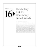 Vocabulary list 13 - Commonly Tested Words