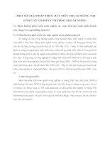 MỘT SỐ GIẢI PHÁP THÚC ĐẨY TIÊU THỤ XI MĂNG TẠI CÔNG TY CỔ PHẦN THƯƠNG MẠI XI MĂNG