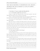 THỰC TRẠNG THỊ TRƯỜNG VÀ TÌNH HÌNH DUY TRÌ - MỞ RỘNG THỊ TRƯỜNG TIÊU THỤ SẢN PHẨM CỦA CÔNG TY CỔ PHẦN DỊCH HỒNG HÀ NỘI