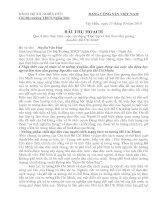 BẢN THU HOACH CÁ NHÂN QUA 4 NĂM THỰC HIỆN CUỘC VÂN ĐỘNG HỌC TẬP VÀ LÀM THEO.........