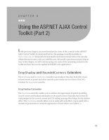 Using the ASP.NET AJAX Control Toolkit (Part 2)
